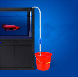 2019 detergenti per serbatoi di pesce Liquidazione 160 cm Aquarium Cleaner Tool Sifone Ghiaia tubo di aspirazione Filtro per Fish Tank Vacuum Water Change Pump Tools tubo tubo per acqua