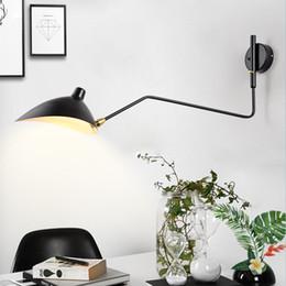 2019 apliques de parede rústica Nordic Lâmpada de parede de cabeceira quarto dança do pato Bico única cabeça industrial criativo rotação Personalidade Vida simples lâmpada quarto