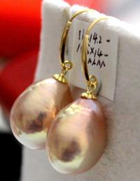 Wholesale Precioso pendiente rosa perla rosa mar del sur de mm k