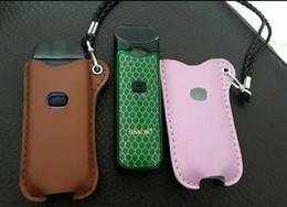 Cuir ambré en Ligne-cuir cas pour Smok vape collier portant la couleur ambre noir porte-poche de sac de stylo sac e cigarette cas