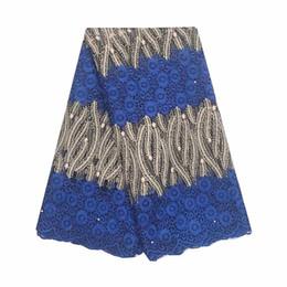 2019 королевская синяя нигерийская кружевная ткань Швейцарский африканский нигерийский кружевной ткани королевский синий французский тюль кружева зеленый африканский кружевной ткани 2019 материал высокого качества шнурки дешево королевская синяя нигерийская кружевная ткань
