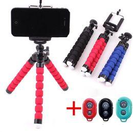 губка мобильная Скидка Bluetooth пульт дистанционного управления губка осьминог мобильный телефон кронштейн мобильный телефон мини selfie штатив 360 градусов вращения