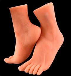 máscara sexo para os homens Desconto fetiche masturbação masculina verdadeira silicone silicone molde macho brinquedos produtos masturbação adultos do sexo pé simulação do modelo do pé