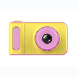 2019 câmera de segurança escondida Brinquedos da Criança da criança Câmera Mini Câmera Digital 2 Polegada Bonito Dos Desenhos Animados Câmera Brinquedos Crianças Presente de Aniversário 1280 P Criança