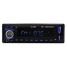 2019 tableau de bord numérique universel SU-1089 Autoradio Autoradio Stéréo Lecteur MP3 Bluetooth 1Din au tableau de bord Téléphone AUX-IN MP3 FM / USB / télécommande