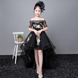 b81e410e5 Vestidos de cumpleaños para niños Nuevo estilo de invierno Noble Fashion  Show Modelo de cola negra Princesa falda envío gratis mostrar modelos de  vestir ...