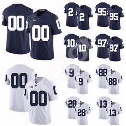 jersey patriota negro Rebajas Personalizado Penn State Nittany 95 Tyler Davis PSU Fútbol americano universitario Micah Parsons KJ Hamler Nick Scott Hamilton Stevens 3 DeAndre Thompkins Jersey