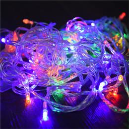 AUCD Giardino esterno LED 10M 30M 50M Alberi domestici Decorazione Luci natalizie per feste di Natale Festa Feste di luce LED-10M da nuove luci ghiacciate bianche fornitori