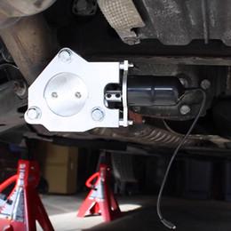 peças de carros de controle remoto Desconto Exhaust Professional Tubo Peças Electric Remote Control metal Cut Out válvula com Cap acessórios eletrônicos para automóveis Car