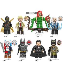 Juguetes heladas online-Bloques de construcción Avengers 4 End Game Space Talon John Constantine Killer Frost Bricks Figuras Juguetes para niños X0238