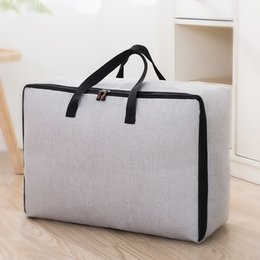 used clothes bags Promo Codes - luluhut quilt storage bag large capacity zip bag for blanket pillow wardrobe organizer home use clothes storage with handle