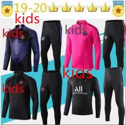 Vestes garçons jersey en Ligne-ENFANT 2019 nouveau survêtement de maillot psg GARÇON 18 19 20 veste de survêtement Psg de football maillot de foot CAVANI maillot de foot MBAPPE