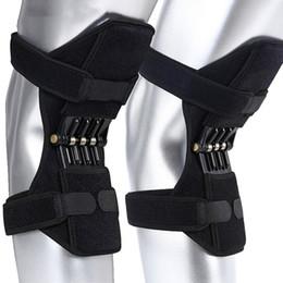 Наколенники онлайн-Поддержка коленного сустава колодки дышащий нескользящая мощность лифт поддержка коленного сустава колодки отскок мощная пружина прочность длина колена укрепить новый