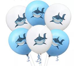 decorações flutuantes Desconto 100 pçs / lote Tubarão Balões Partido Suprimentos Balões De Látex Crianças Dos Desenhos Animados Animal Cavalo Flutuador Globo Decoração de Festa de Aniversário