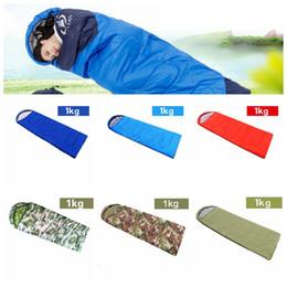 2019 konvexes kissen 1 kg Outdoor Schlafsäcke Erwärmung Einzelschlafsack Casual Wasserdichte Decken Umschlag Camping Reise Wandern Decken Schlafsack