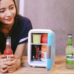 холодильник с 12v холодильником Скидка CBJ Авто автомобильный холодильник мини 4L холодильник двойного назначения дома + автомобиль 220 В + 12 В электрический холодильник коробка отопления