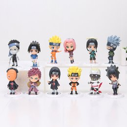 naruto sakura figures Coupons - 12pcs 7cm Anime Naruto Figure Toy Sasuke Kakashi Sakura Gaara Itachi Obito Madara Killer Bee Model Doll Naruto Action Figure