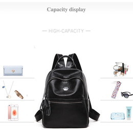 4b640d9e8b Korean version of all-leather shoulder bag women s bag personality fashion  soft leather backpack college wind anti-theft Backpack New Style