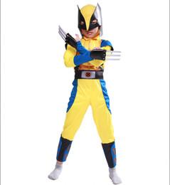 2019 fantasia de princesa de princesa amarela Purim X-Men Comics Menino Crianças Cosplay Wolverine Logan Halloween Carnaval Traje Do Partido Do Vestido Extravagante