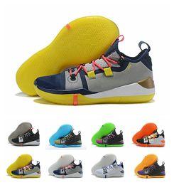 separation shoes 3886e d8156 Mit Box Kobe AD Mamba EP Tag Multicolor Herren Basketballschuhe React  Exodus Derozan Schwarz Silber Lila Größe 7-12