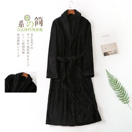Winter Couple Men s Bathrobe Coralline Velvet Nightgown Long Sleeve Pajamas  Bathrobe Black Bath Robes Men Kimono Long Robe 9378ce9ed