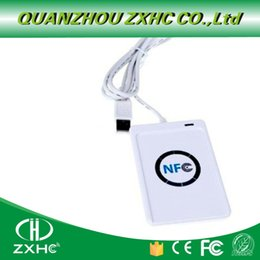 2019 controle de acesso da porta do cartão inteligente ACR122U USB NFC escritor para ISO14443 protocolo S50 UID Ntag213 Ntag215 Ntag216