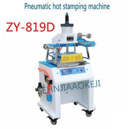 máquinas de estampado en caliente Rebajas ZY-819D Máquina neumática de bronceado en caliente Modo de aterrizaje Área grande Configuración automática de la máquina de estampado en caliente Área de altura de trabajo 1500W