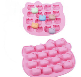 Canada kitty Handmade Chocolate Mold - Silicone Cake Ice tray moule pudding moule Brand New Good Quality Livraison gratuite Offre