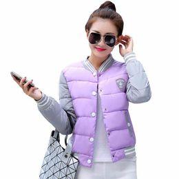 2018 Nuova giacca invernale donna Coreana uniforme moda giacche calde cappotto invernale donna cotone parka femminile Giacca invernale da donna da