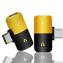 Séparateur adaptateur 3.5mm en Ligne-Capsule Pilule De Charge Rapide Type C Aux Écouteurs 3.5mm Câble Audio Adaptateur De Chargeur Adaptateur Splitter Pour Android Phone Splitter