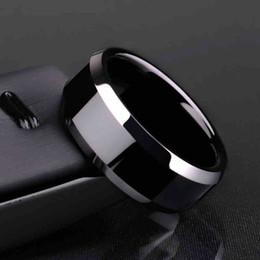 tamaño de anillo de plata 4.25 Rebajas Anillos de acero inoxidable de titanio de alta calidad, negro para hombres, oro, plata, azul, multicolor, elegante, tamaño 6-13 de EE. UU.