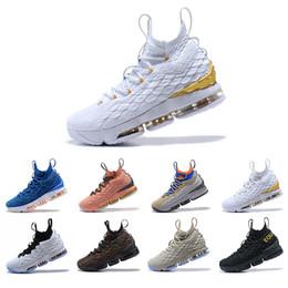 2019 talons de travail moyens Nouvelle qualité plus récente Ashes Ghost Lebron 15 chaussures de basket-ball arrivée baskets 15 s Mens Casual 15 KingJames chaussures de sport LBJ EUR 40-46