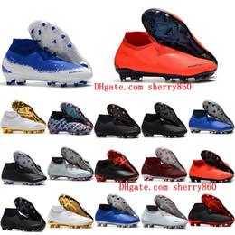 Zapatos fantasma online-Zapatillas de fútbol para hombre 2018 Phantom VSN Elite DF FG AG para exteriores x EA Sports Phantom Vision botas de fútbol scarpe calcio hot