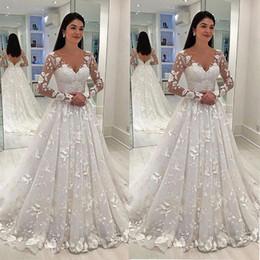 Deutschland 2019 New Design Formale Ballkleid-Abend-Kleider mit V-Ausschnitt Frauen Formal SpitzeAppliques Braut langen Abend-Partei-Kleider Versorgung