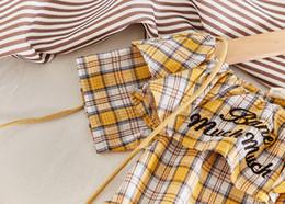 roupa de algodão de linho de maternidade Desconto Meninas Vestidos Bebê Kids Clothing algodão bebê crianças Maternidade Roupa Vestido com colar da manta e bordados para crianças Alfabeto
