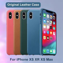 Deutschland Haben logo original pu leder case für apple iphone xs xr x 6 6 s 7 8 plus xs max case leder phone cover mit kleinkasten cheap apple logo leather case Versorgung