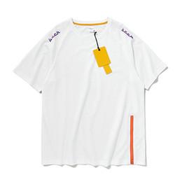2019 chemise à glissière coton T-shirt à fermeture à glissière latérale Vêtements 2019 Harajuku Été T-shirt en coton col de coton à manches courtes T-shirt ample oversize en vente chaude chemise à glissière coton pas cher