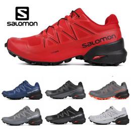 Bonnes chaussures de tennis en Ligne-2019 Salomon Speedcross 5 CS Chaussures de course pour hommes de bonne qualité formateurs pour hommes Imperméable Athlétique sport Sneakers jogging randonnée 7-11.5