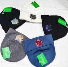 cappellini di lana Sconti Cappellino da lettera Europa e America Cappello in lana lavorato a maglia Autunno Inverno Cappelli moda uomo e donna Commercio all'ingrosso