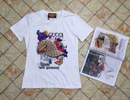 2019 impressões de c Mulheres roupas Carta Impressão de Manga Curta T-shirt de seda das mulheres designer de camisetas c 06 desconto impressões de c