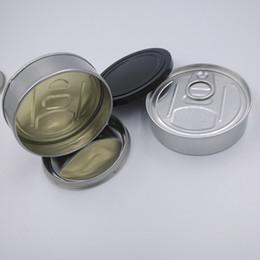 2019 ecig fino Latas vazias 3.5G Tin Pré-selado vedação Tampa Tampa para a seco Herb Pressionado etiqueta personalizada inteligente Carrinhos Organic