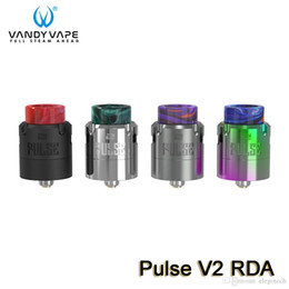 Rda doppia bobina online-Vandy Vape Pulse V2 RDA Atomizzatore Supporto Single Dual Coil Building Top Squonk Feeding Bottom Juice Returning 100% Authentic VandyVape
