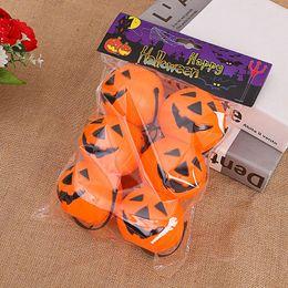 Kürbishalter online-6pcs = 1 Tasche Halloween-Party Requisiten Plastikkürbis Eimer Trick Treat Cosplay Kunststoff Dekoration Beutel-Halter-Halloween-Dekoration