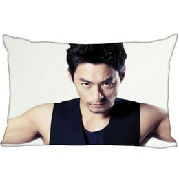 Almohada de corea online-Hot Korea-Pop Custom Joo Jin Mo Satin Funda de almohada 35x45cm (un lado) Impreso Zipper Seda Funda de almohada Logotipo personalizado regalo Funda de almohada