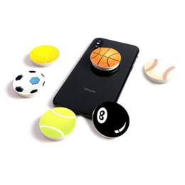 puestos de fútbol Rebajas Soporte universal para teléfono móvil de baloncesto de baloncesto de 360 grados Real 3M pegamento extensible Grip Finger Stand Flexible para iPhone X 8 7 plus Samsung