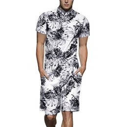 1795a5b7e8b New Summer Leaves Print 3D Men Rompers 2019 Hoiday Hawaiian Beach Short  Jumpsuit Slim Fit Playsuit One Piece Cargo Overalls 3XL discount one piece  jumpsuit ...