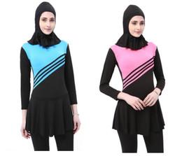 Swimsuit musulmanes on-line-2019 novo swimwear Muçulmano das Mulheres maiô de praia, swimsuit das mulheres Swimwear separadoswimming terno flexível à moda Praia wim desgaste para mulheres