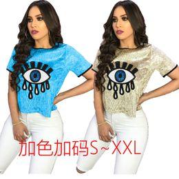 Женские ночные рубашки онлайн-2019 весной и летом модели Европы и Соединенных Штатов приграничного женской внешней торговли ночной клуб сексуальные рубашки с блестками