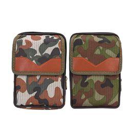 Sándwich de bolsillo online-1 PCS Canvas bolsillos deportivos bolsillos multiusos de los hombres al aire libre camuflaje vertical emparedado con cremallera bolsa