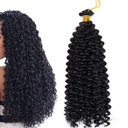 Torsion afro kinky tresses cheveux en Ligne-Marlybob Synthétique Crochet Tressage Cheveux Marlibob Eau Vague Twist Crochet Cheveux Tresses Afro Dreadlocks Kinky Curl Faisceaux de Cheveux pour Noir Wom